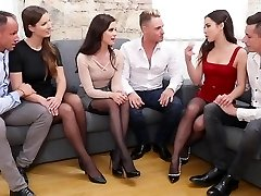Trio pairs of Swingers gave each other a party with groupsex
