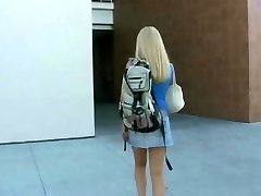 Blonde student boned hard