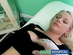 FakeHospital Humungous beautiful blonde let's the doctor do as he satiates