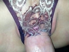 Wet Panty Poking, ripped a hole with my pipe - Lydia and Aaron