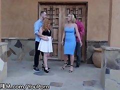 2 Swinger Couples DP Fuck in the Driveway