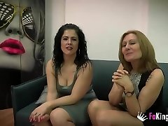Nuria and Montse's three way with Julian's penis