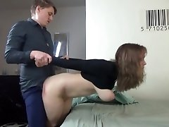 Young couple have rough clad sex