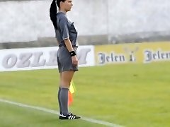 Beautiful female linesman