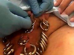 Pierced slavedick new 5 frenulum piercings
