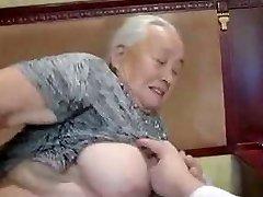 80yr senior Japanese Granny Still Loves to Fuck Uncensored