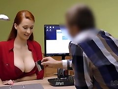 LOAN4K. Red-haired woman with impressive curves needs...