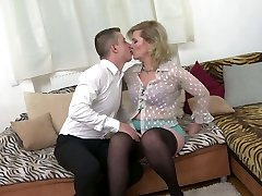 Taboo home hook-up with real mature mother Mirka