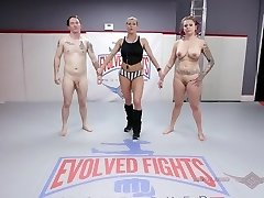 'Tori Avano naked wrestling fight and face fuck at Evolved Struggles'