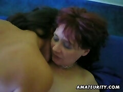 Unexperienced FFM threesome with facial cumshot