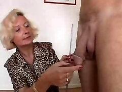 Italian Granny enjoys 2 chisels