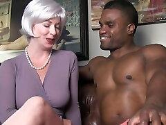 mind-blowing milf seduces black stud