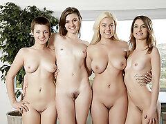 Bonnie Kinz & Eva Celeste & Jessica Blaze & Kristen Scott in Teenage Kristen Scott and friends get nasty - Vivid