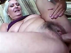 Hairy old cunt screams in passion during prolific sexual action