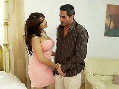 Classy housewife with big boobs, Valery got boned highly hard, while her husband was at work