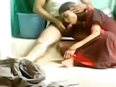 Indian amateur fuck-a-thon video of a horny duo on the floor