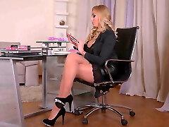 Breath-taking CEO Kayla Green fucks her inked secretary M