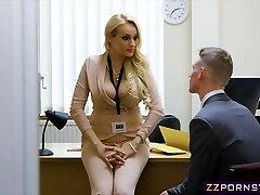 Sexy busty teacher fucked rock-hard in her office