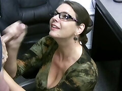 Carrie - Jizz Covered Glasses