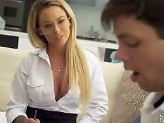 Sophomore schoolgirl has the honor to fuck killing hot instructor Isabelle Deltore