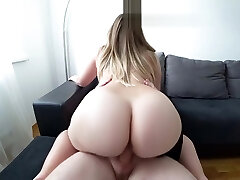 A young girl with a big backside fucks after a douche