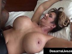 Voluptuous Vixen Deauxma Nails & Sucks On A Hefty Black Cock!