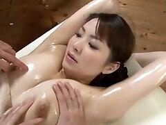 Stunning Japanese model Yuna Aino in Horny 3 Way, Massage JAV scene