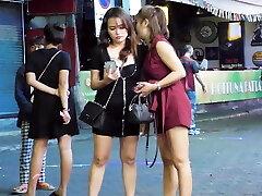 Pattaya Ambling Street Nightlife and ladyboy,Thailand 2020