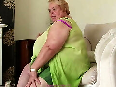 Morbidly Obese Granny takes off for us