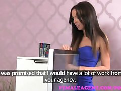 FemaleAgent. Big casting cumshot for smoking hot agent