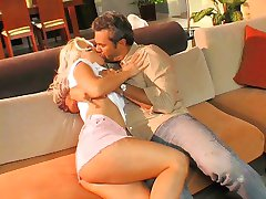 Randy hot blonde loves riding a hard dick