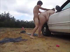 Having car trouble,helpful stranger fixs my car for sex creampie