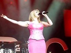 Beatrice Egli Pink Mini Sundress Upskirt Pussy On Stage Oops
