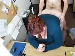 Fucking my Horny Fat BBW Secretary on Covert Web Cam
