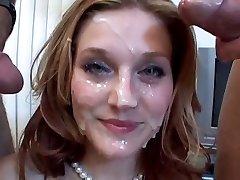 Pretty Face Caked in Cum