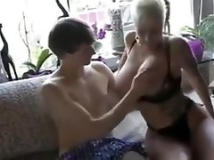 Huge-titted German Mom Fucking With Young Boy