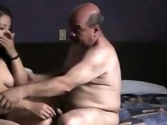 Indian prostitude gal smashed by oldman in hotel room.