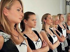 6 लड़कियों नंगा नाच पार्टी के लिए सबसे अच्छा नौकरानी