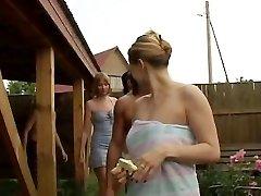 Group lovemaking at the Villa 1