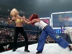 trish and lita vs stacey and torrie wrestling divas brassiere and underpants match