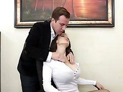 Super mega-slut McKenzie Lee gets rammed rigid right on the table