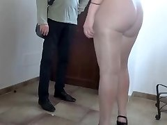 Stockings flashing big ass bitch