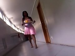 Pretty Ebony Maid Sits On Her Dude's Face