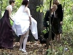 A bud among voyeur videos with a bride urinating in the forest
