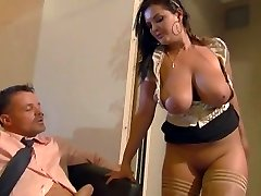 Busty secretary Jasmin sates her boss