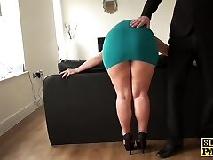 Mature victim bum-fucked until red raw and ruined