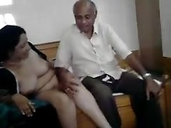 Hot desi cougar with oldman
