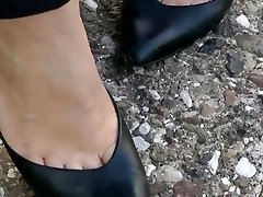 shoeplay in old school heels compilation