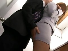 Haruki Sato gets pounded in her spouse�s office