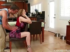 Incredible Step Mom Julia Ann loves playing
